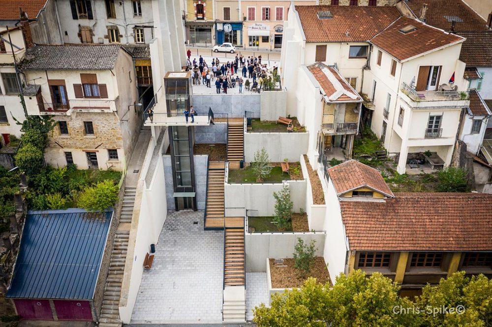 DECAZEVILLE Revitalisation centre bourg – Aménagement rue Cayrade percée urbaine cœur de ville
